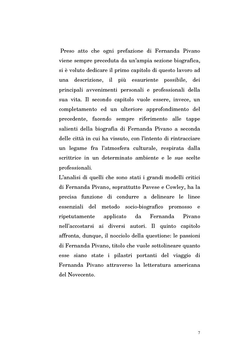 Anteprima della tesi: Fernanda Pivano e la letteratura americana, Pagina 7