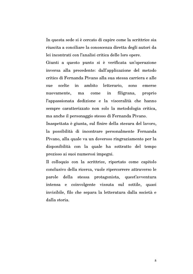 Anteprima della tesi: Fernanda Pivano e la letteratura americana, Pagina 8