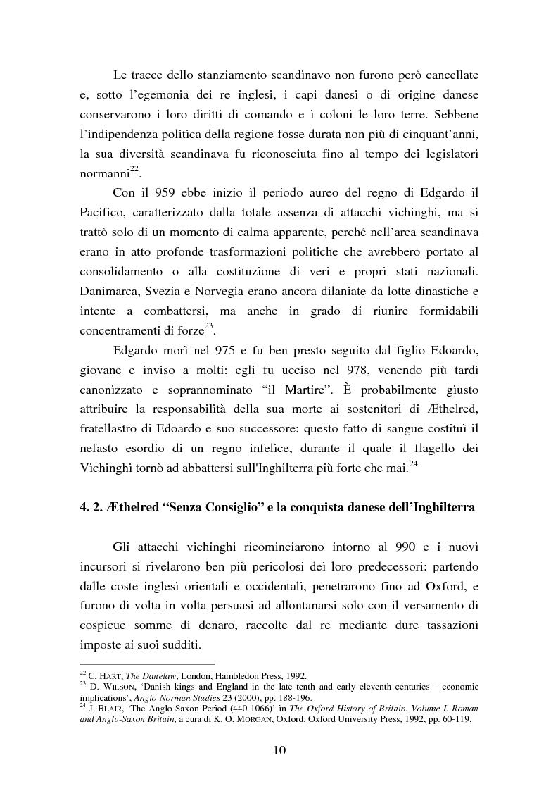 Anteprima della tesi: Presenza e azione di Ælfgifu di Northampton, regina madre e reggente nell'Impero del Nord di Canuto il Grande (1013-1040), Pagina 10