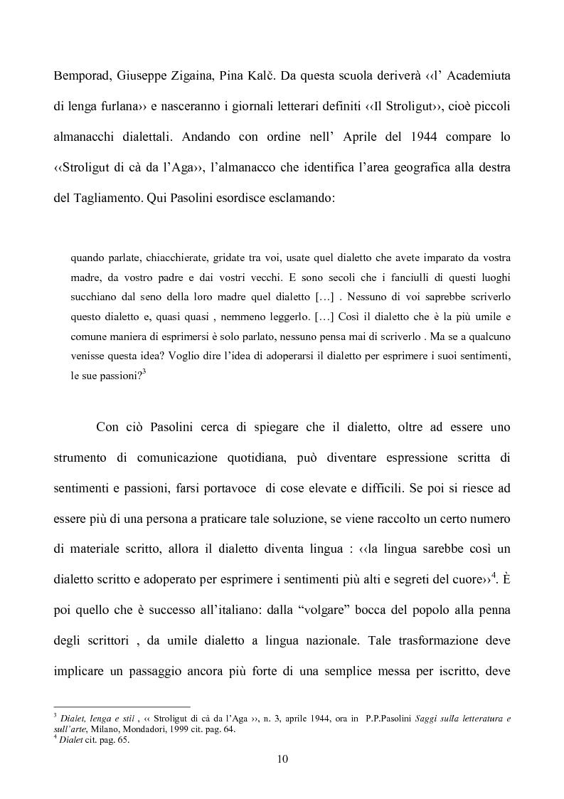 Anteprima della tesi: Pasolini lettore, Pagina 10