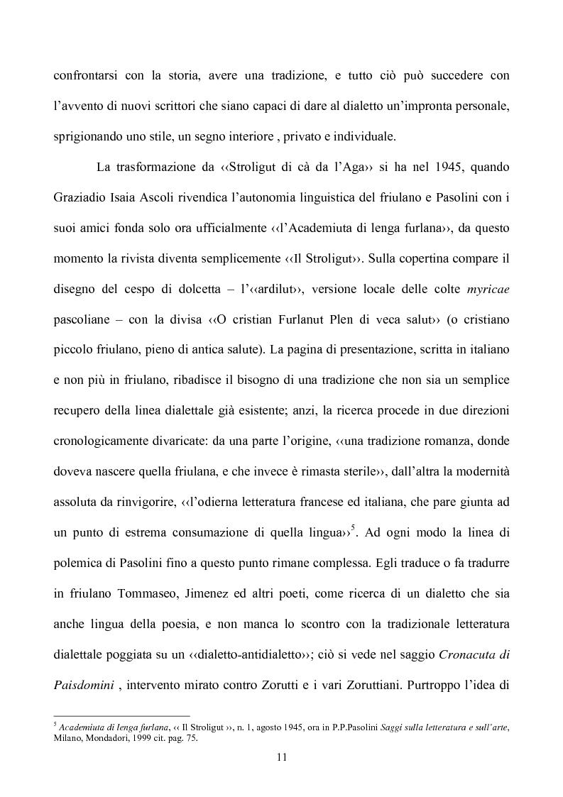 Anteprima della tesi: Pasolini lettore, Pagina 11