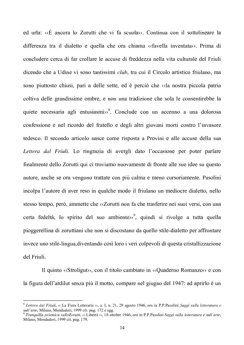 Anteprima della tesi: Pasolini lettore, Pagina 14