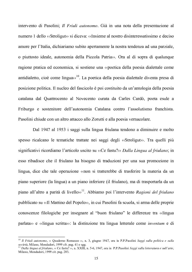 Anteprima della tesi: Pasolini lettore, Pagina 15