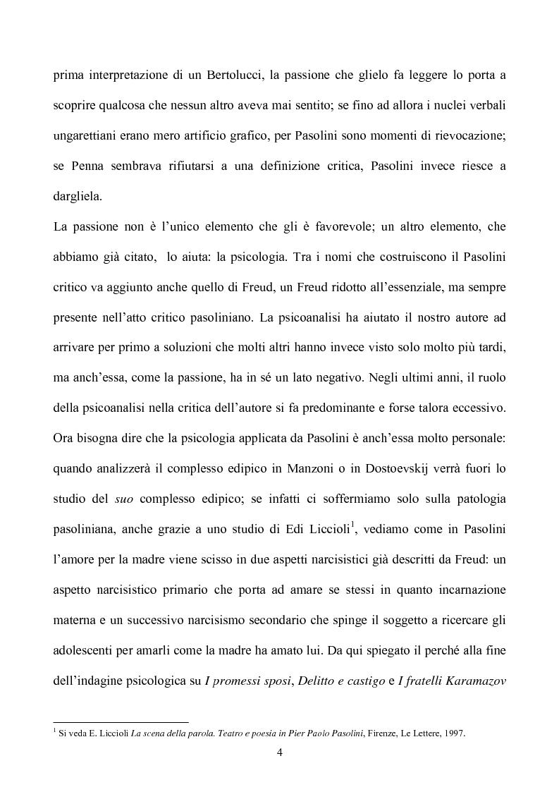 Anteprima della tesi: Pasolini lettore, Pagina 4