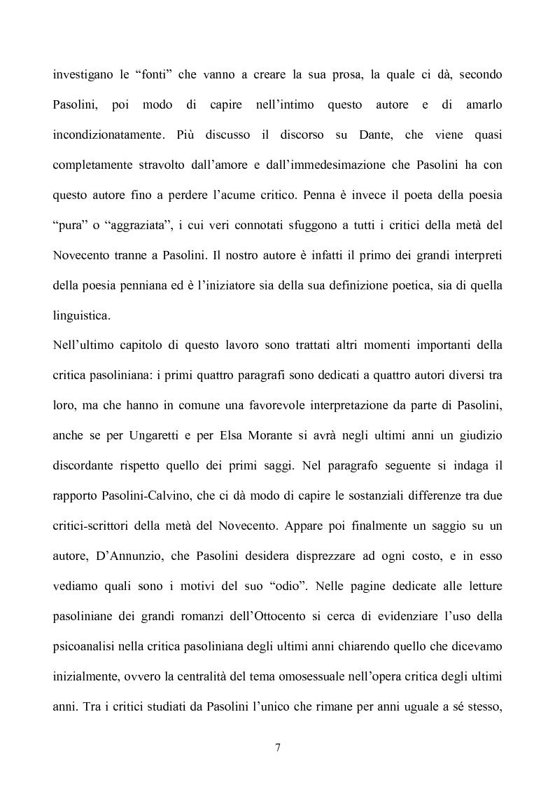 Anteprima della tesi: Pasolini lettore, Pagina 7
