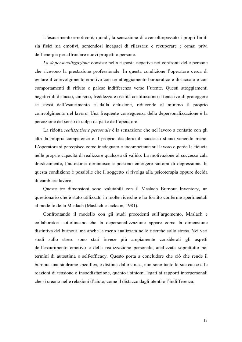 Anteprima della tesi: Rilevazione del burnout e delle strategie di coping in un campione di ausiliari socio-assistenziali, Pagina 10