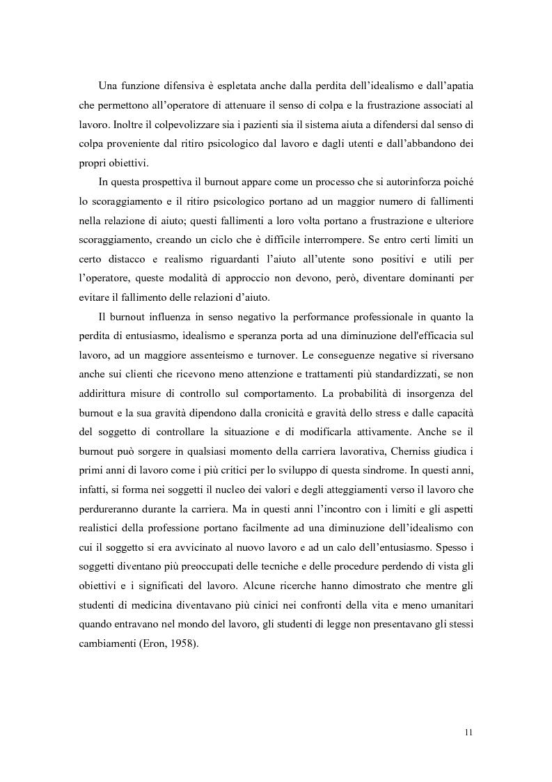 Anteprima della tesi: Rilevazione del burnout e delle strategie di coping in un campione di ausiliari socio-assistenziali, Pagina 8