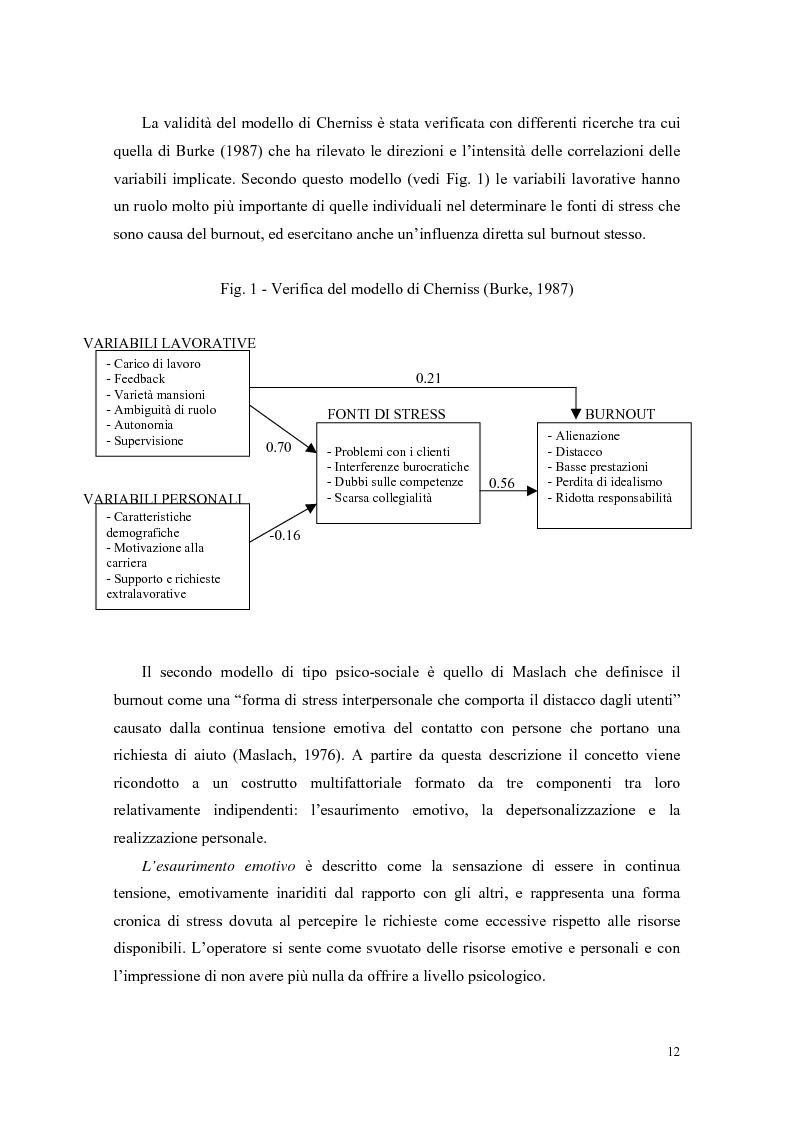 Anteprima della tesi: Rilevazione del burnout e delle strategie di coping in un campione di ausiliari socio-assistenziali, Pagina 9