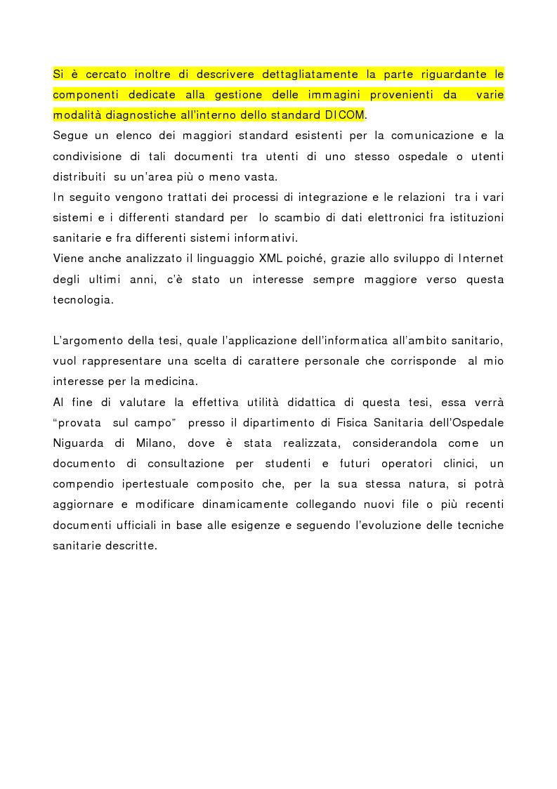 Anteprima della tesi: Integrazione delle tecniche di imaging in ambiente ospedaliero Intranet, Pagina 3