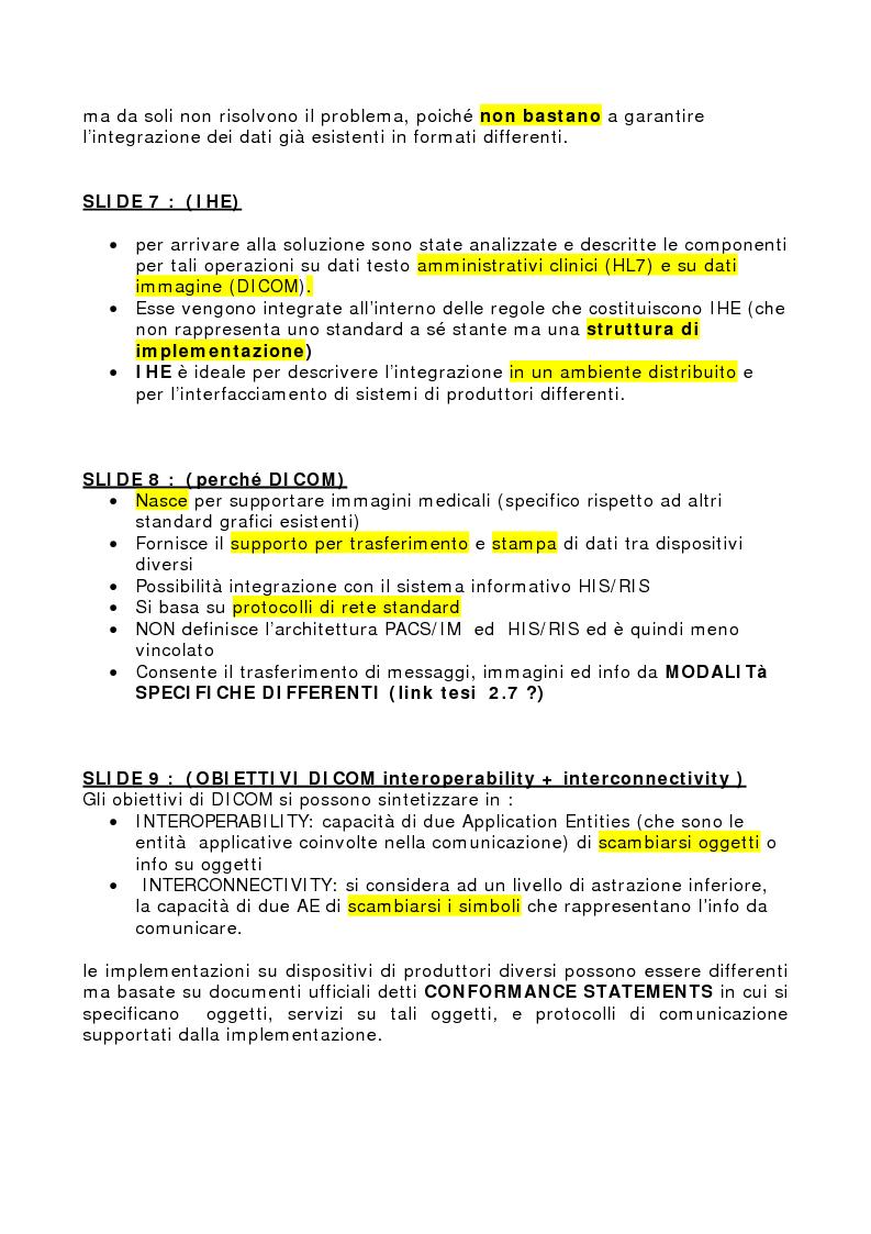 Anteprima della tesi: Integrazione delle tecniche di imaging in ambiente ospedaliero Intranet, Pagina 6