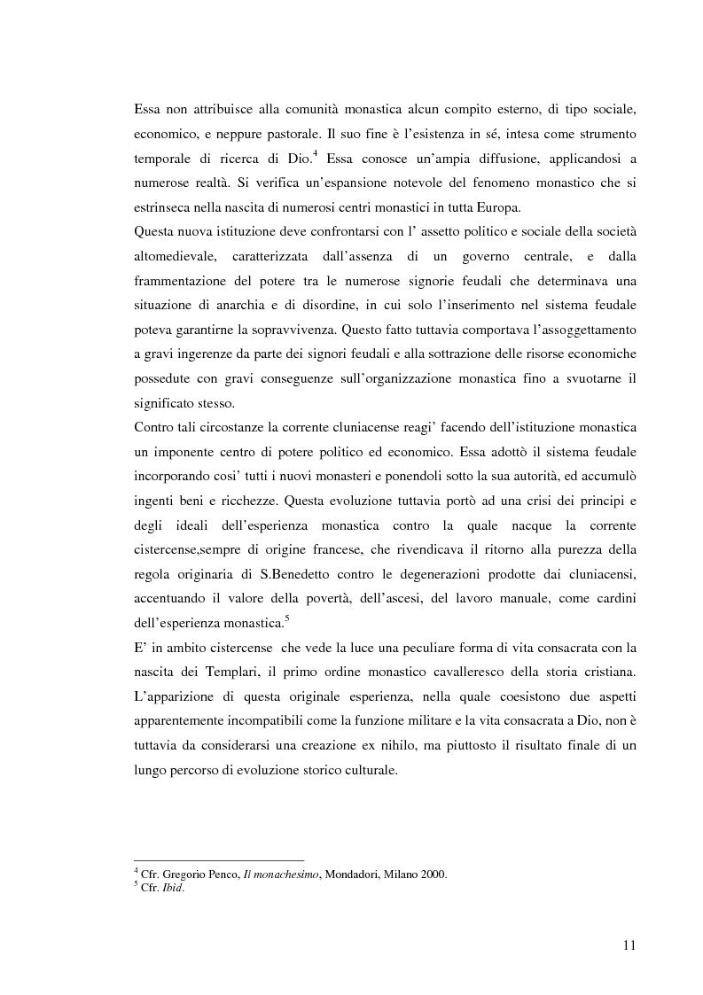 Anteprima della tesi: Ordinamenti religiosi combattenti: Templari e Samurai, Pagina 8