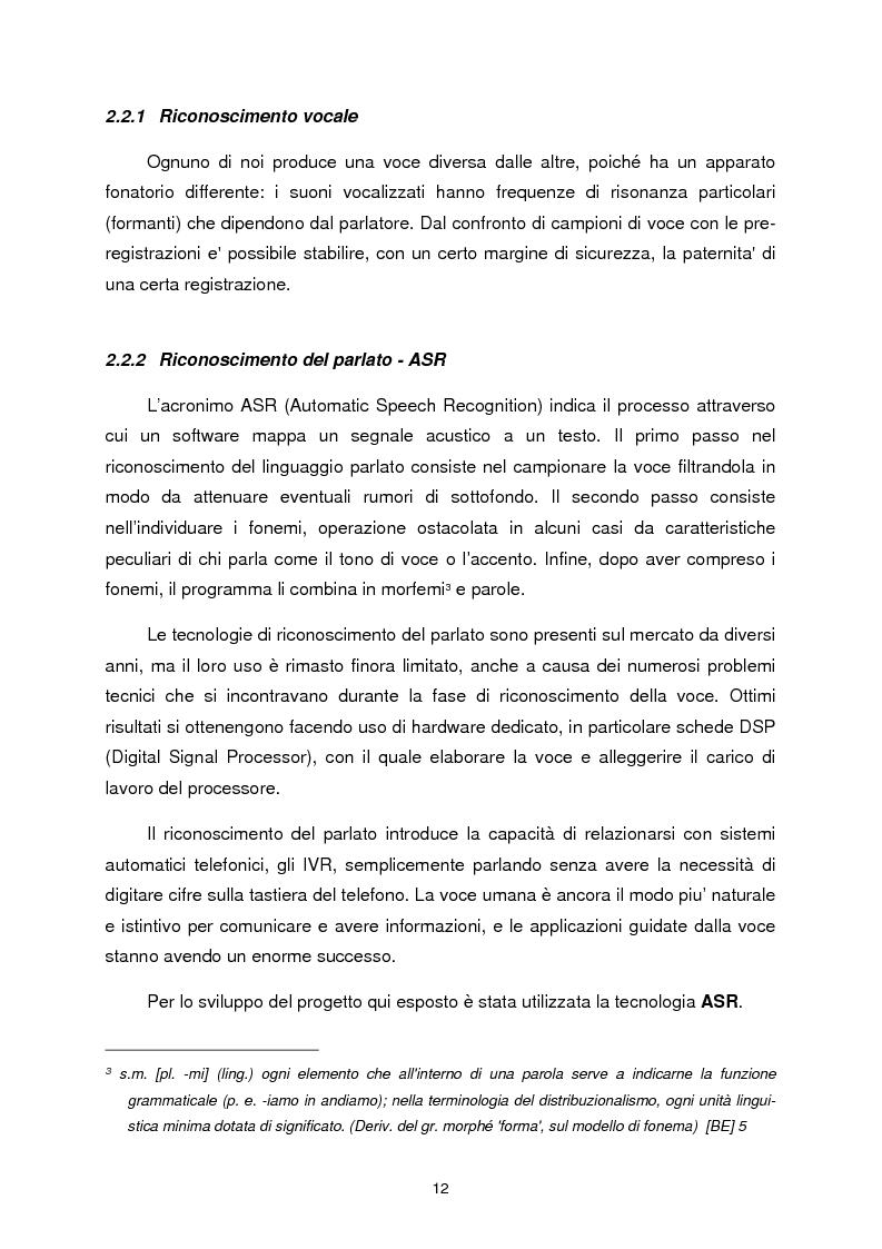 Anteprima della tesi: Chiamata attivata da richiesta vocale, Pagina 7