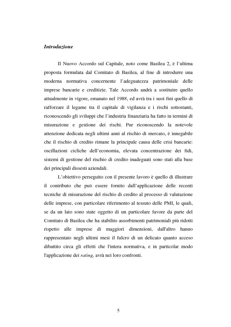 Anteprima della tesi: Valutazione delle imprese e merito creditizio alla luce del Nuovo Accordo di Basilea, Pagina 1
