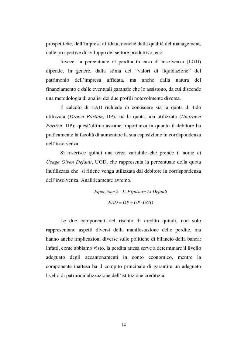 Anteprima della tesi: Valutazione delle imprese e merito creditizio alla luce del Nuovo Accordo di Basilea, Pagina 10