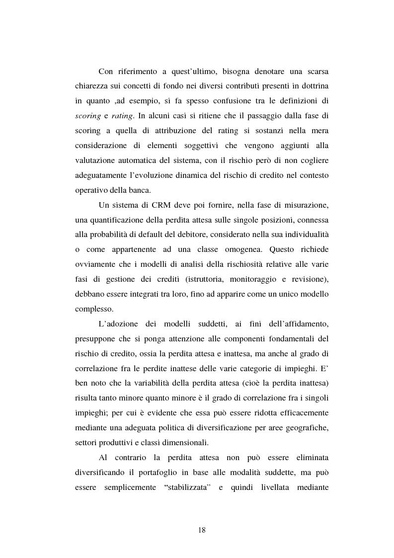Anteprima della tesi: Valutazione delle imprese e merito creditizio alla luce del Nuovo Accordo di Basilea, Pagina 14