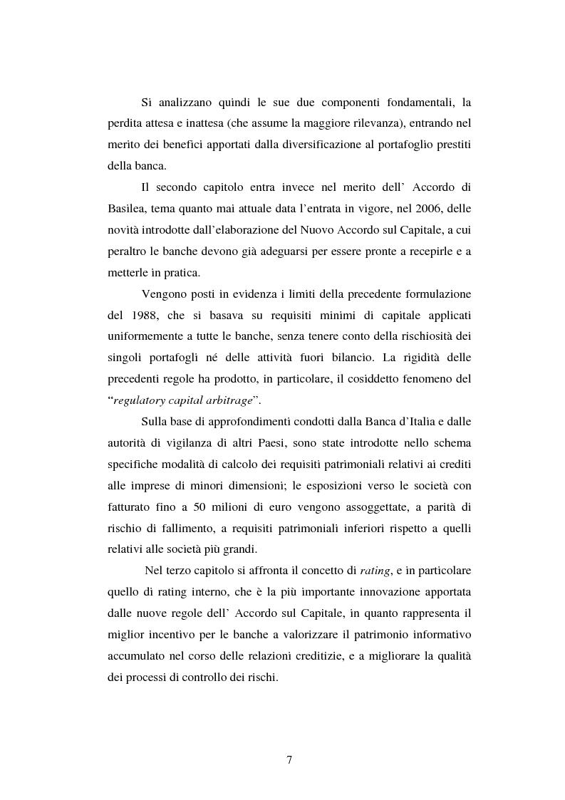 Anteprima della tesi: Valutazione delle imprese e merito creditizio alla luce del Nuovo Accordo di Basilea, Pagina 3