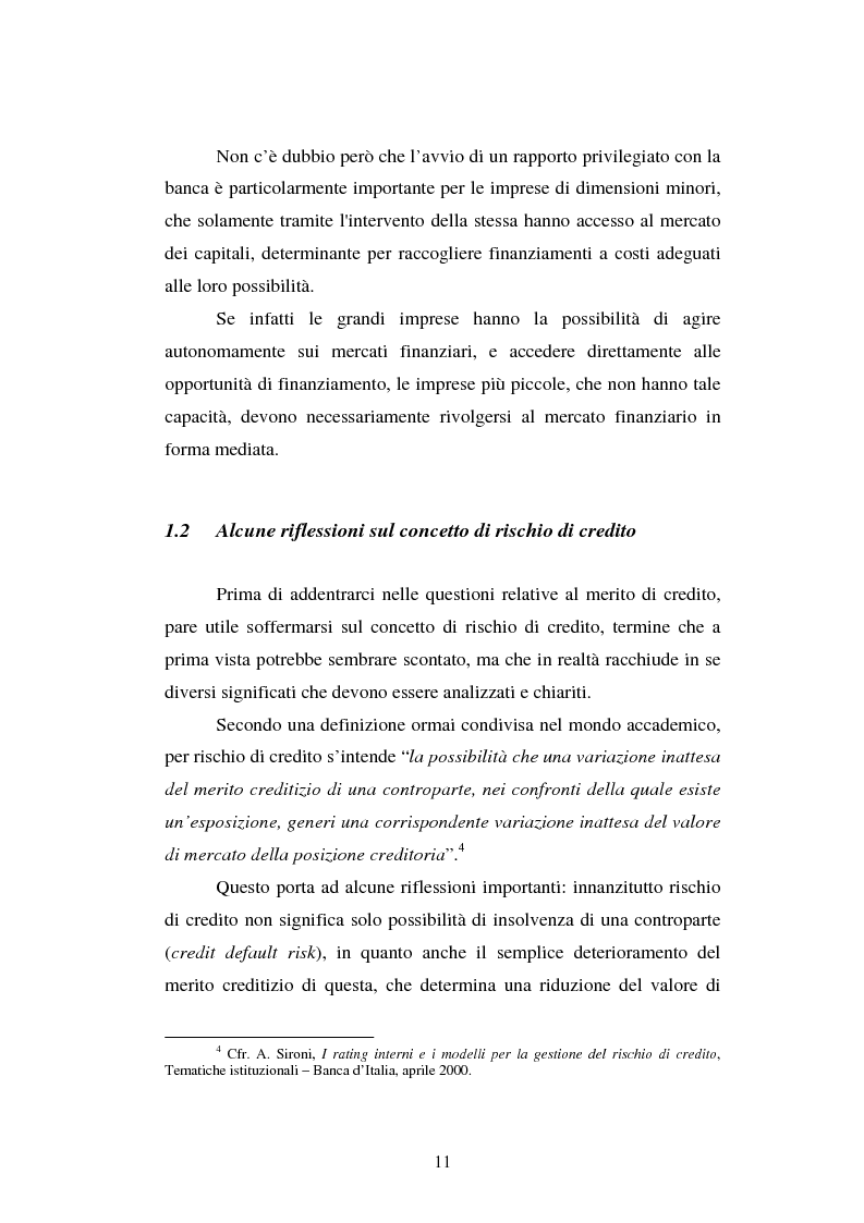 Anteprima della tesi: Valutazione delle imprese e merito creditizio alla luce del Nuovo Accordo di Basilea, Pagina 7