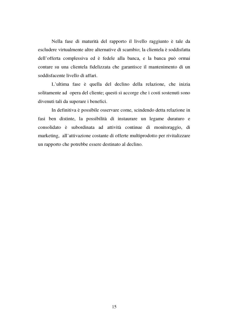 Anteprima della tesi: Implementazione e problematiche di una strategia di CRM in banca, Pagina 11