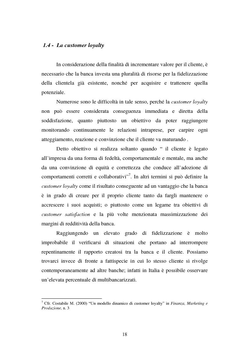 Anteprima della tesi: Implementazione e problematiche di una strategia di CRM in banca, Pagina 14