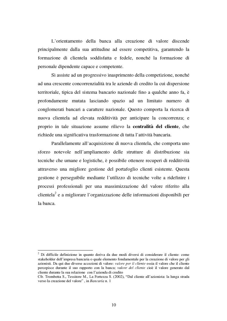 Anteprima della tesi: Implementazione e problematiche di una strategia di CRM in banca, Pagina 6