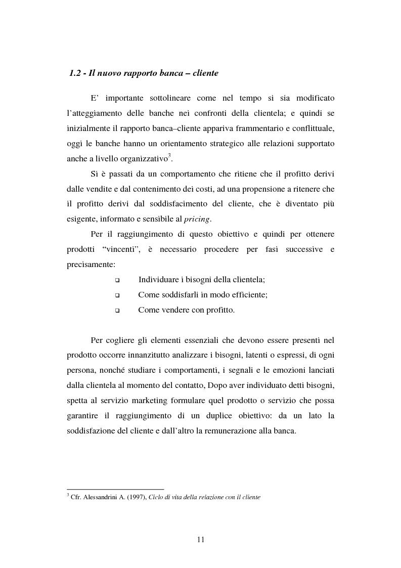 Anteprima della tesi: Implementazione e problematiche di una strategia di CRM in banca, Pagina 7