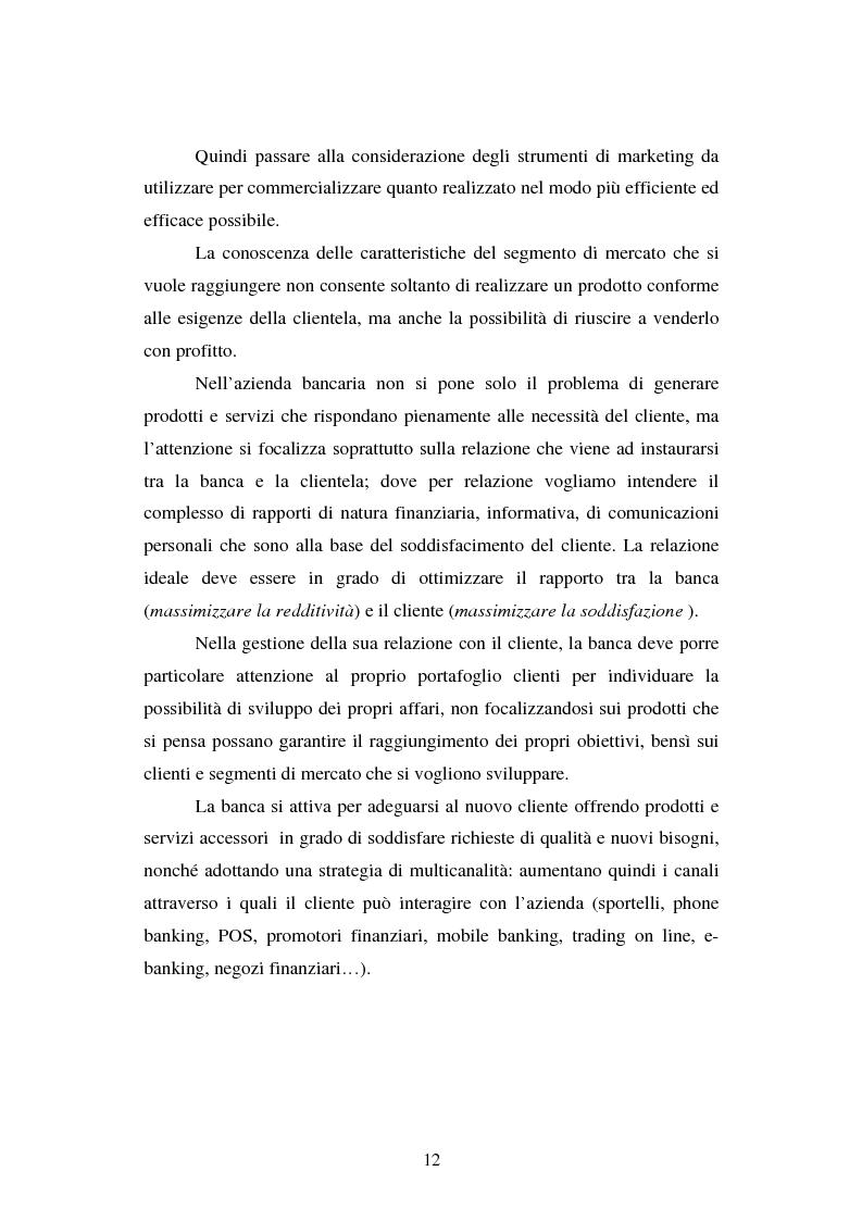 Anteprima della tesi: Implementazione e problematiche di una strategia di CRM in banca, Pagina 8