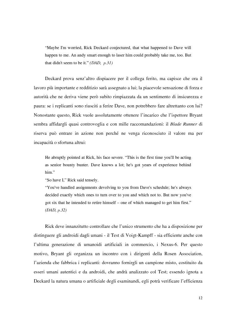 Anteprima della tesi: Universi che (non) cadono a pezzi: la negazione dell'apparenza in Do Androids Dream of Electric Sheep? di Philip K. Dick e Blade Runner di Ridley Scott, Pagina 10