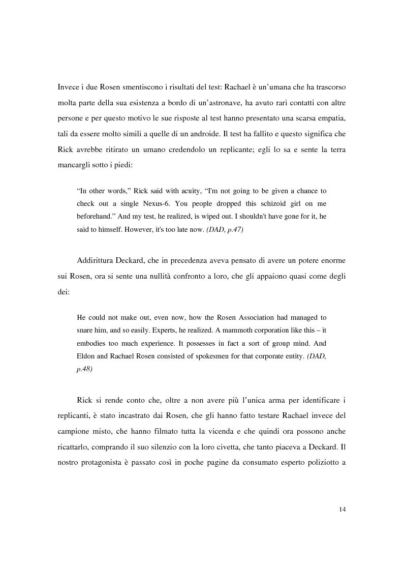 Anteprima della tesi: Universi che (non) cadono a pezzi: la negazione dell'apparenza in Do Androids Dream of Electric Sheep? di Philip K. Dick e Blade Runner di Ridley Scott, Pagina 12