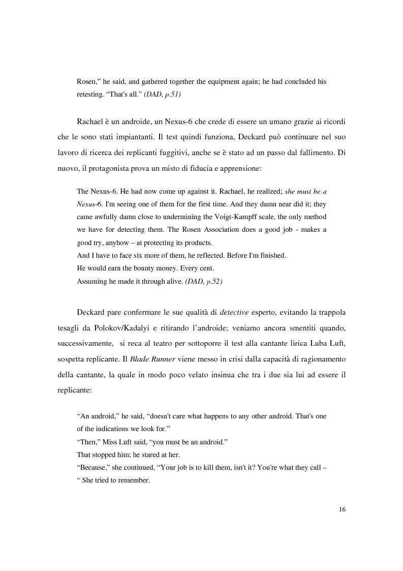 Anteprima della tesi: Universi che (non) cadono a pezzi: la negazione dell'apparenza in Do Androids Dream of Electric Sheep? di Philip K. Dick e Blade Runner di Ridley Scott, Pagina 14