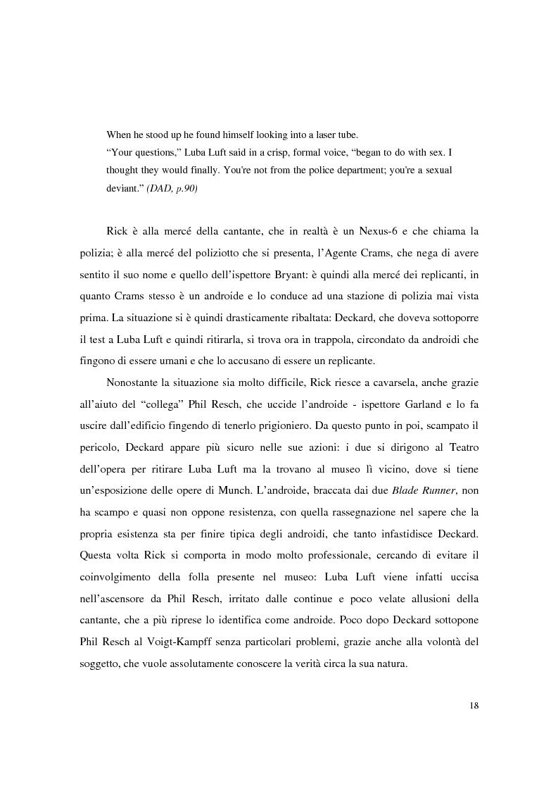 Anteprima della tesi: Universi che (non) cadono a pezzi: la negazione dell'apparenza in Do Androids Dream of Electric Sheep? di Philip K. Dick e Blade Runner di Ridley Scott, Pagina 16