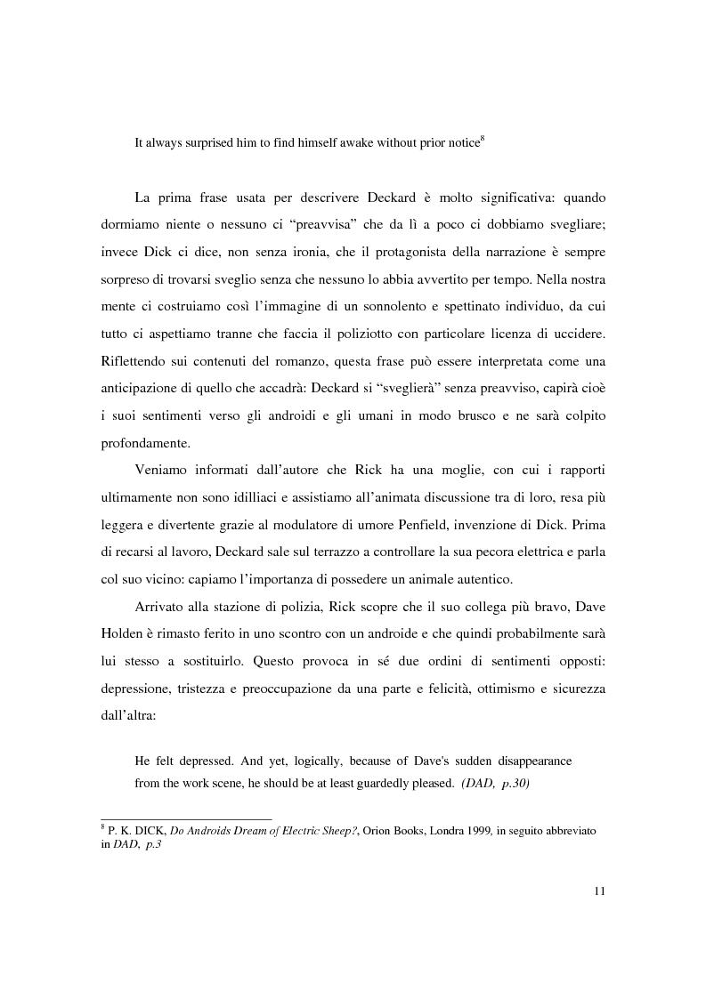 Anteprima della tesi: Universi che (non) cadono a pezzi: la negazione dell'apparenza in Do Androids Dream of Electric Sheep? di Philip K. Dick e Blade Runner di Ridley Scott, Pagina 9
