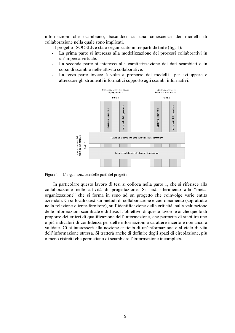 Anteprima della tesi: L'integrazione dei fornitori in progettazione e la gestione delle informazioni: un modello di analisi, Pagina 2