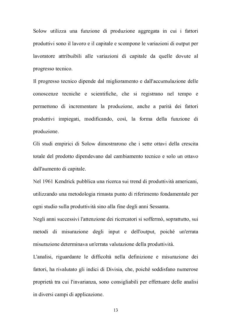 Anteprima della tesi: Metodi parametrici e non parametrici per la misura dell'efficienza nelle imprese manifatturiere, Pagina 10
