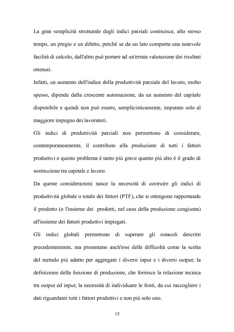 Anteprima della tesi: Metodi parametrici e non parametrici per la misura dell'efficienza nelle imprese manifatturiere, Pagina 12