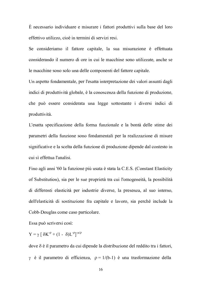 Anteprima della tesi: Metodi parametrici e non parametrici per la misura dell'efficienza nelle imprese manifatturiere, Pagina 13