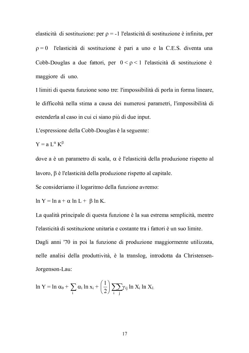 Anteprima della tesi: Metodi parametrici e non parametrici per la misura dell'efficienza nelle imprese manifatturiere, Pagina 14