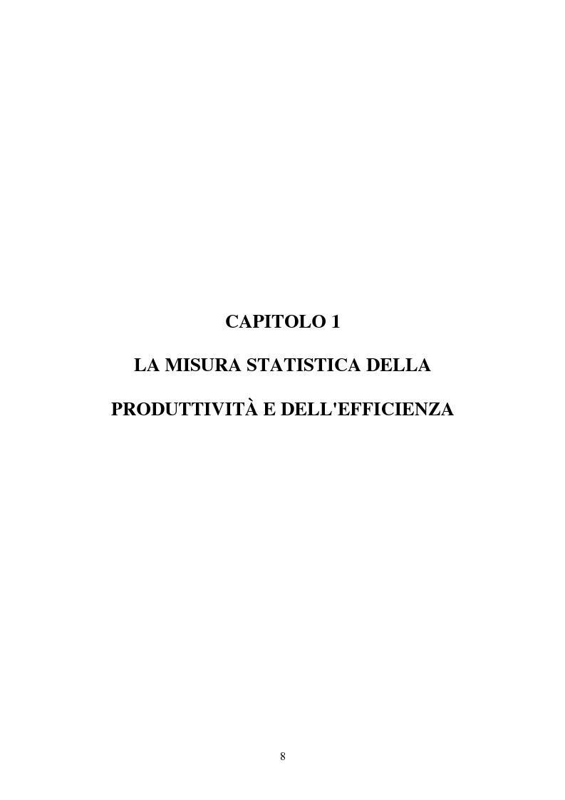 Anteprima della tesi: Metodi parametrici e non parametrici per la misura dell'efficienza nelle imprese manifatturiere, Pagina 5