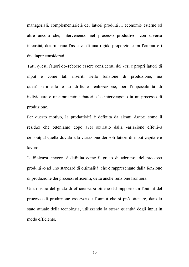 Anteprima della tesi: Metodi parametrici e non parametrici per la misura dell'efficienza nelle imprese manifatturiere, Pagina 7