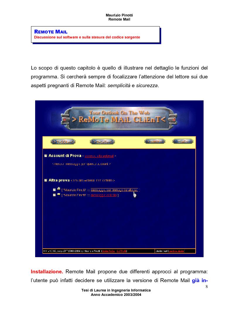 Anteprima della tesi: Remote Mail - un nuovo tool per la consultazione della posta elettronica, Pagina 4