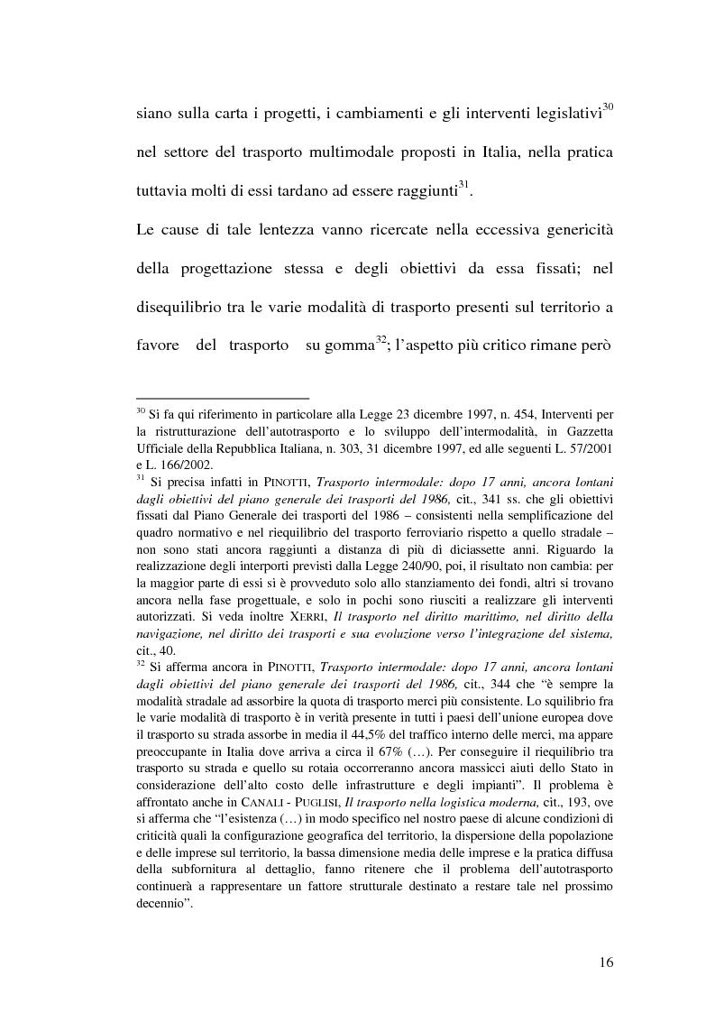 Anteprima della tesi: La disciplina del trasporto multimodale, Pagina 13