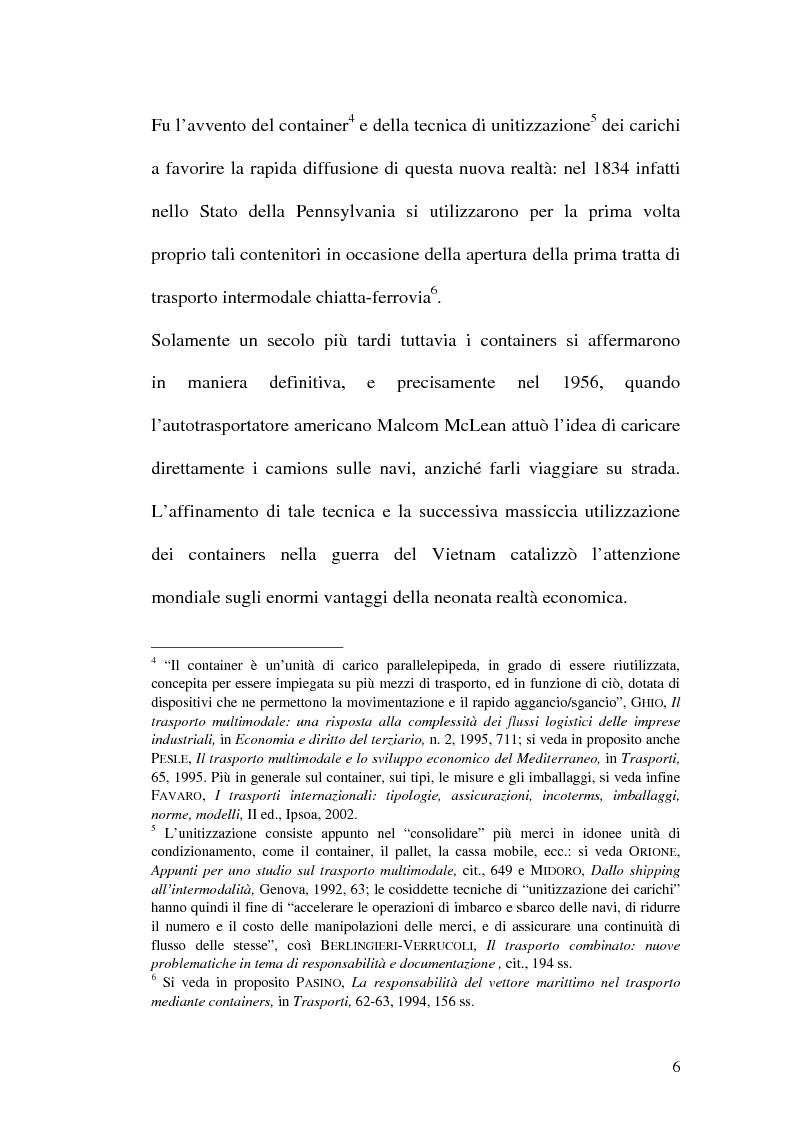 Anteprima della tesi: La disciplina del trasporto multimodale, Pagina 3