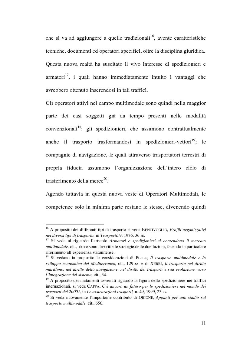 Anteprima della tesi: La disciplina del trasporto multimodale, Pagina 8
