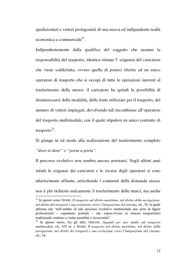 Anteprima della tesi: La disciplina del trasporto multimodale, Pagina 9