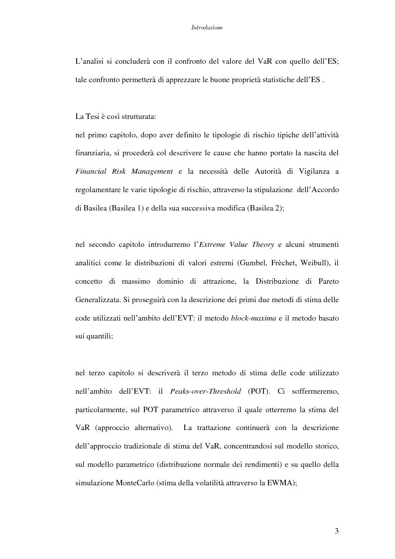 Anteprima della tesi: Extreme Value Theory: un'applicazione al Value-at-Risk (VaR), Pagina 3