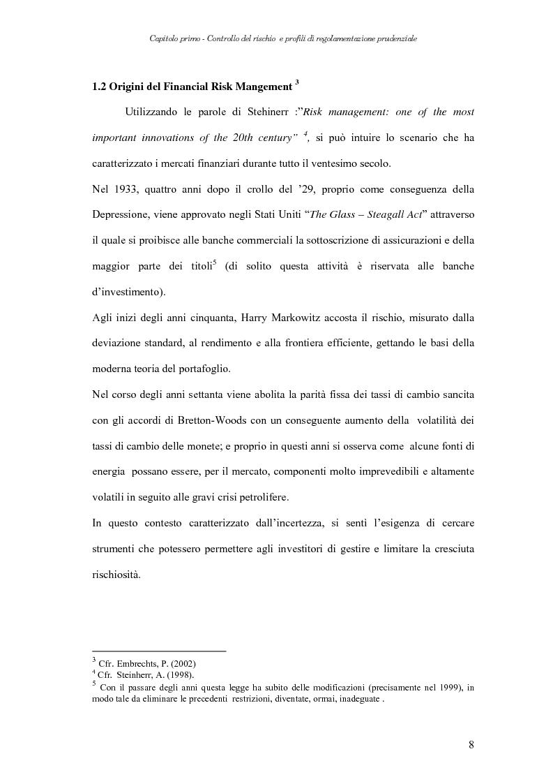 Anteprima della tesi: Extreme Value Theory: un'applicazione al Value-at-Risk (VaR), Pagina 8