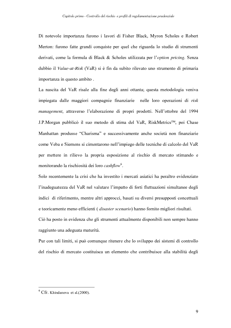 Anteprima della tesi: Extreme Value Theory: un'applicazione al Value-at-Risk (VaR), Pagina 9