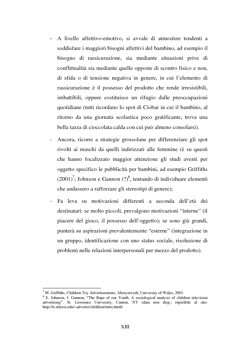 Anteprima della tesi: Il target infanzia nella pubblicità televisiva, Pagina 13