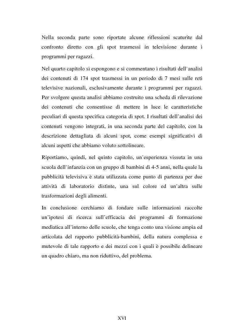 Anteprima della tesi: Il target infanzia nella pubblicità televisiva, Pagina 16