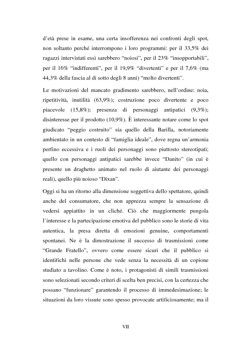 Anteprima della tesi: Il target infanzia nella pubblicità televisiva, Pagina 7