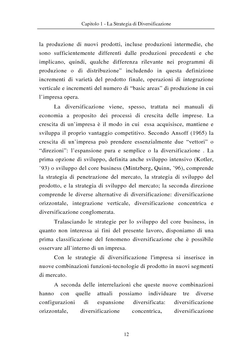 Anteprima della tesi: Le modalità di diversificazione di prodotto nel sistema moda di fascia alta. Un'analisi empirica: il caso italiano Bulgari ed il caso americano Joseph Abboud., Pagina 2